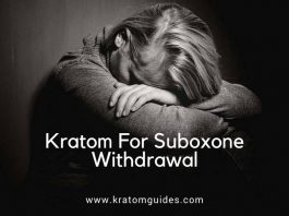 Kratom for Suboxone withdrawal