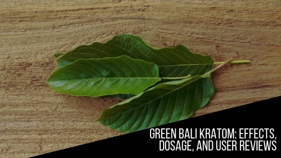Green Bali Kratom Effects Dosage And User Reviews