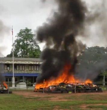 kratom burned in Nakhon Phanom Thailand